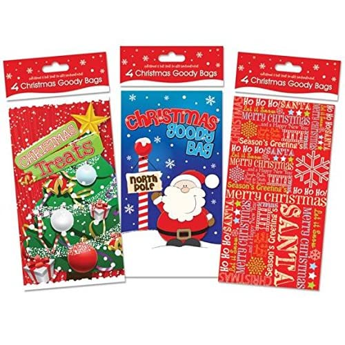 Small secret santa gifts amazon set of 4 christmas goody bags ideal for small xmas gift s or secret santa m4hsunfo
