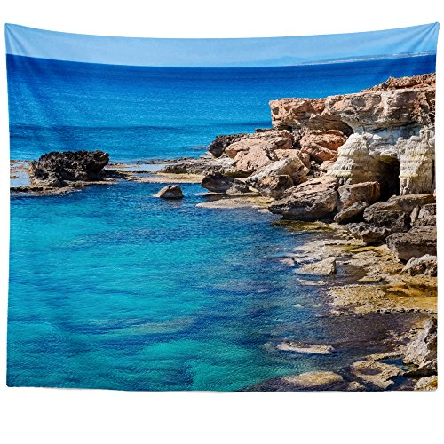 Greco Tapestry (Westlake Art Wall Hanging Tapestry - Cape Greco - Photography Home Decor Living Room - 68x80in (x8z-233-640))