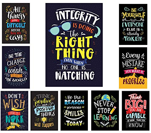 - Learning Ladder Set of 10 Bright Colors Style Motivational Classroom Posters (13