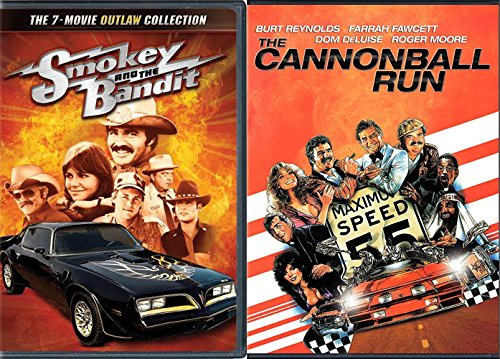 Burt Reynolds 8 Movie Comedy / Racing / Outlaw Collection - Smokey and the Bandit 7 Movie Bundle & The Cannonball Run DVD Action
