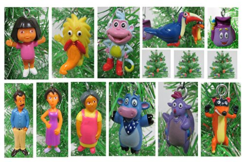Dora the Explorer Christmas Tree Ornament Set - 1