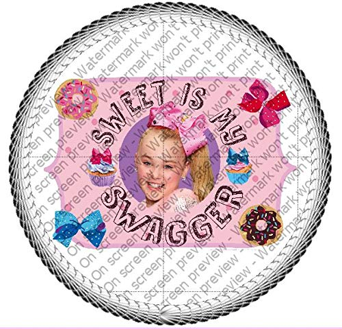 JoJo Sweet Bows Swagger Edible Cupcake Topper Decorations
