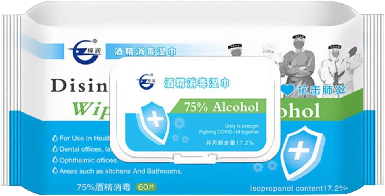 Lingettes Multi-Usages Propres Tampons Jetables 60 Feuilles//Paquet 75/% Lingettes Alcoolis/ées Nettoyantes