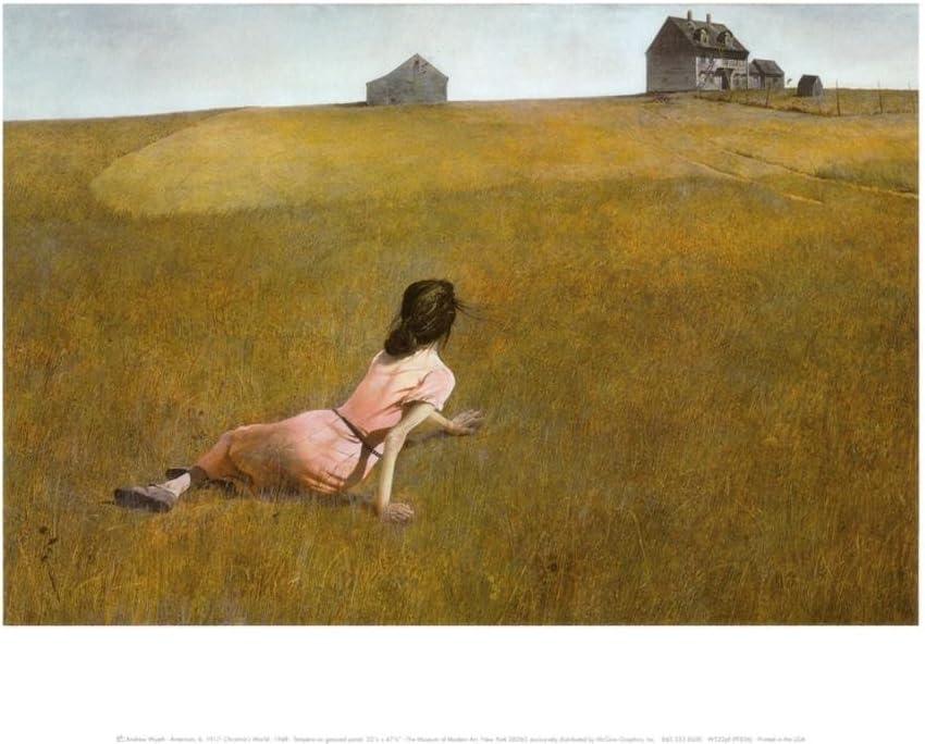 14x11 Christina/'s World by Andrew Wyeth Print