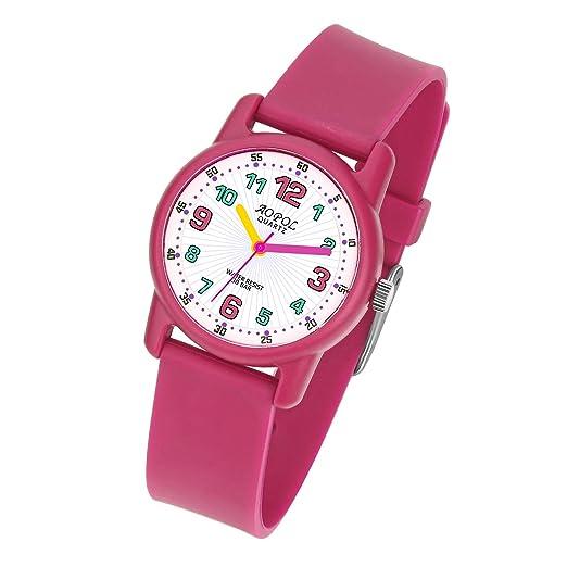 Reloj De Pulsera Infantil Niño, niños Reloj Pulsera Reloj analógico Resistente al Agua Relojes Reloj para niños y niñas Sports Sports de Color Rojo: ...