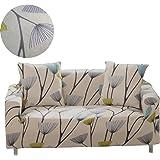 ENZER Housse de Canapé Salon Couverture Fleurs Oiseau Extensible sofa housses Canapé Manchon de Protection Sofa Décoration (Dent-de-lion,2 places / 145-185cm)