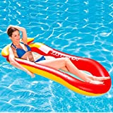 AILUOR Water Floating Hammock, Comfortable Spring Float Pool Lounger Rafts, Swimming Pool Inflatable Floating Bed & Floating Chair, Water Sofa, Beach Mat for Adult Kids Summer Outdoor Swimming (Red)