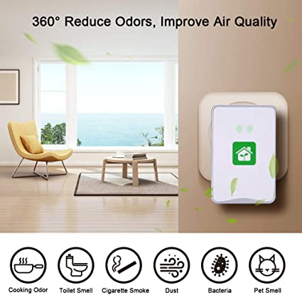 Remove Smoke Odor Pet Smell Travel-Size Smoke Purifier for Small Space Aibrisk Air Purifier for Home