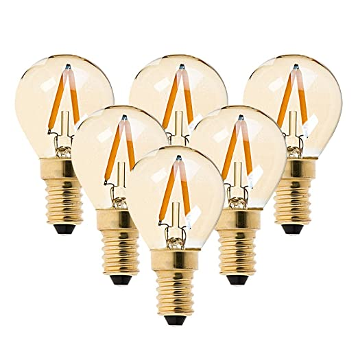 Bombilla de filamento LED G40, 1 W, luz blanca cálida, 2200 K (
