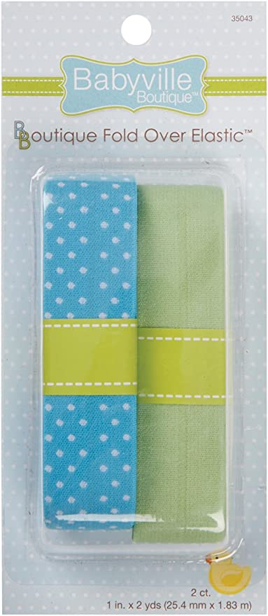 el/ástico Azul y Maciza Color Turquesa Dritz babyville Boutique Plegable