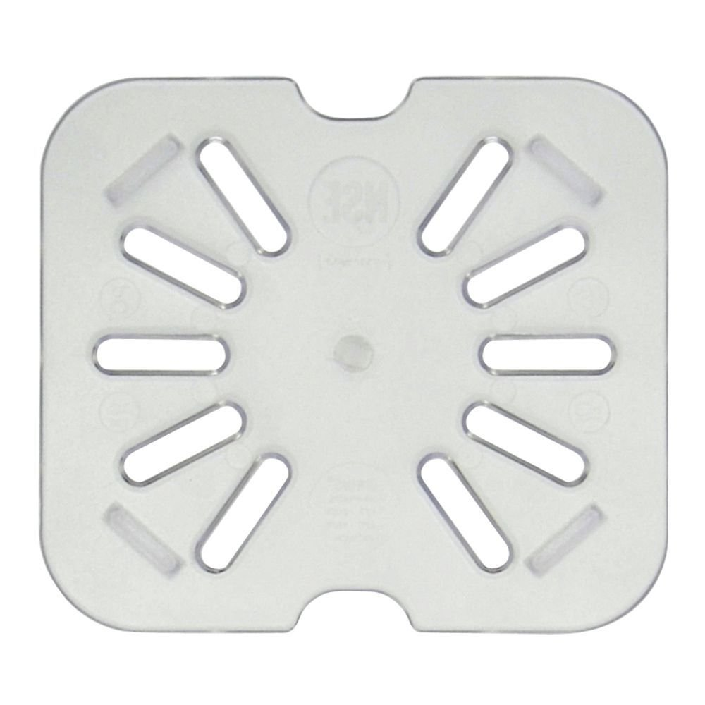 HUBERT 1/6 Size Drain Shelf for Cold Food Pan Clear Polycarbonate