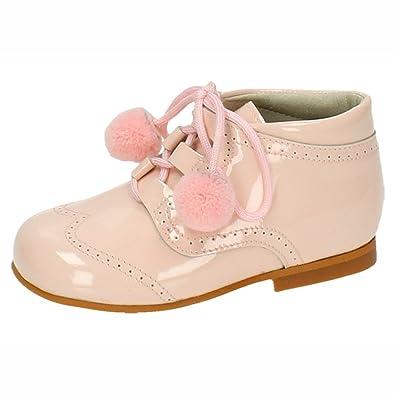 BAMBINELLI 4511 Pompones Rosas Piel NIÑA Botas-Botines: Amazon.es: Zapatos y complementos