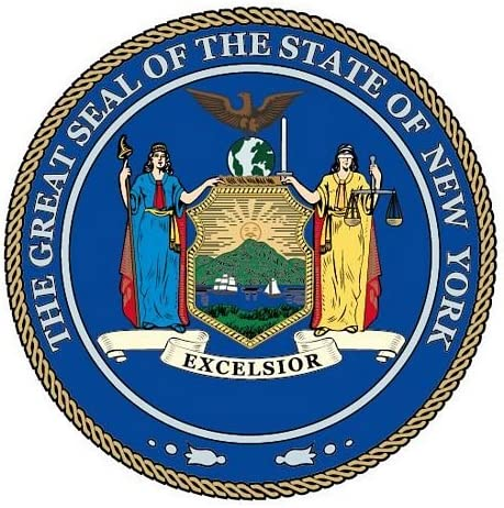 Autoaufkleber Sticker Fahne USA New York Siegel Flagge Aufkleber