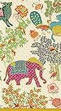 Caspari 3-Ply Paper Le Jardin De Mysore, 15 Count Guest Towel Napkins, Set of 2