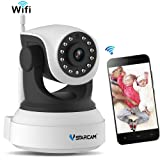 VSTARCAM Wireless Security Network IP Camera Remote Pan Tilt Control and Surveillance 720P Night Vision, 2 Way Audio, Motion Detection Alarm Webcam for Home Security Baby/Elder/Pet/Nanny Monitoring
