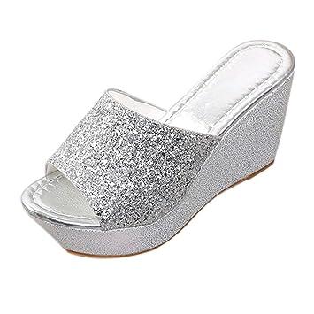 5c7c2522fc9e Amazon.com  Women High Heel Slippers