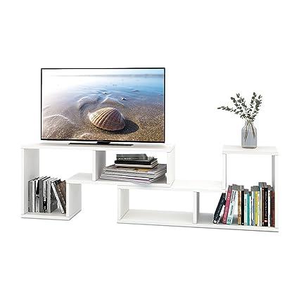 DEVAISE TV Stand 2 Pieces Bookcase Bookshelf 094quot Thk