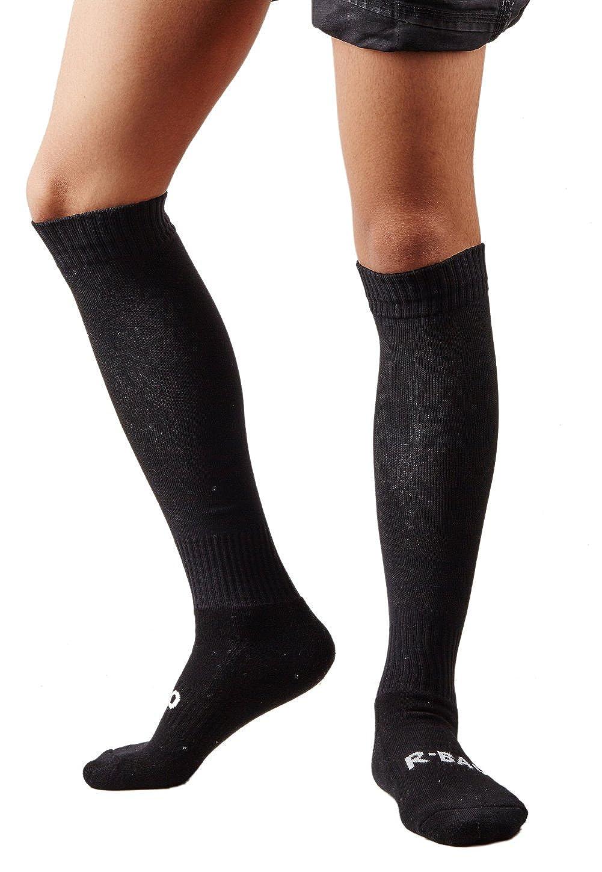 1a4cefe50 Amazon.com  Mens Sports Athletic Compression Football Soccer Socks Over Knee  High Socks (Black)