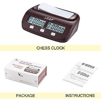 Ajedrez Ajedrez Reloj Temporizador Digital Reloj Dos pantallas LED de la manera simple: Amazon.es: Oficina y papelería
