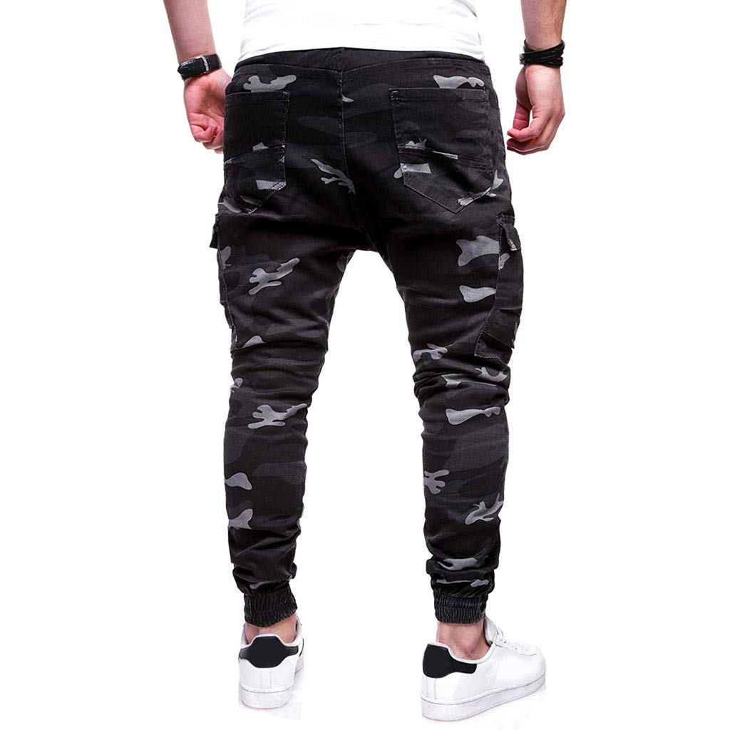 Pantalones Hombre Chandal Militar Moda Pantalones Deportivos ...