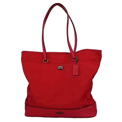 Amazon.com: Coach piel y nylon bolsa Purse – True Red: Shoes