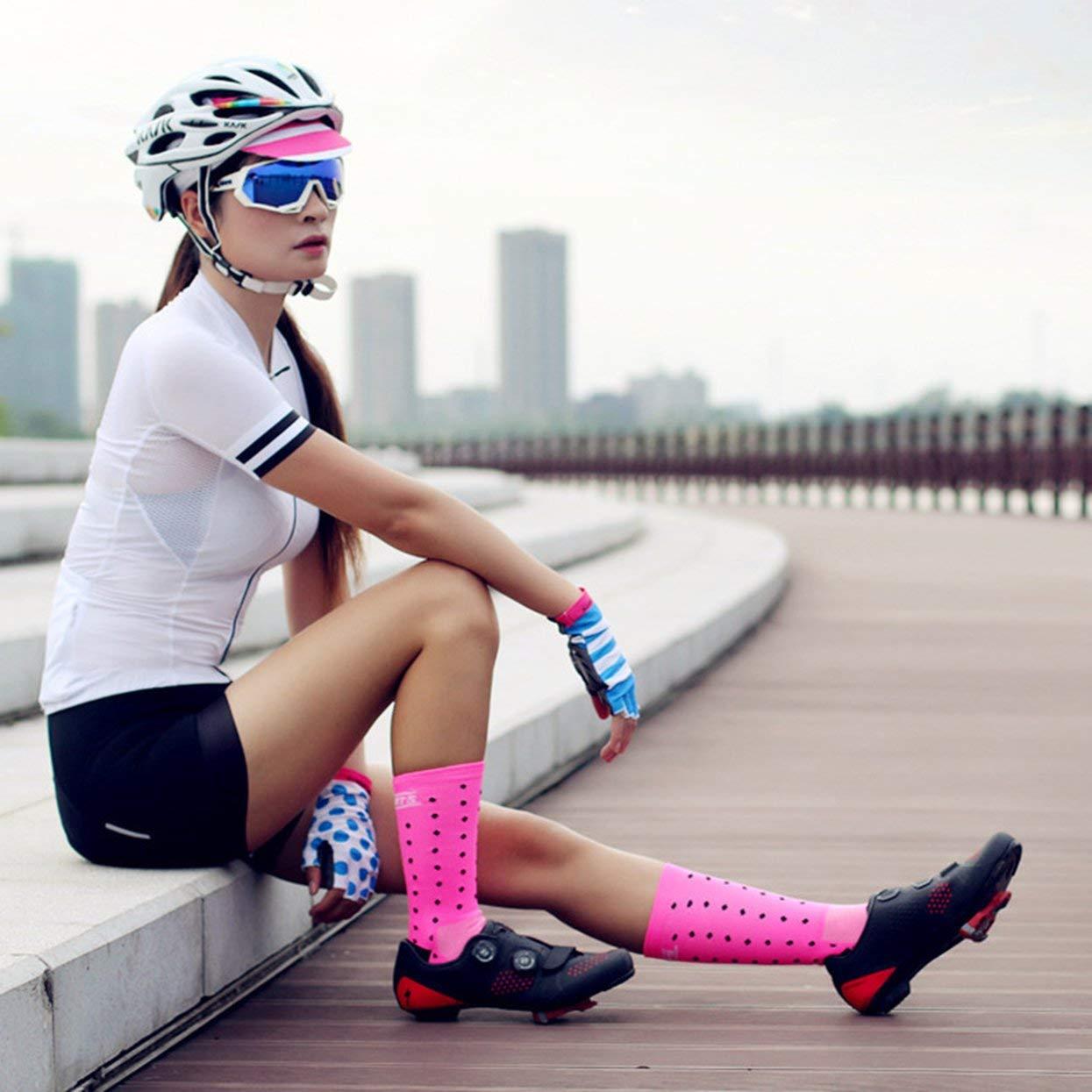 Tree-on-Life C/ómodos Calcetines de Ciclismo al Aire Libre Hombres Mujeres Calzado Deportivo Profesional Transpirable Calcetines de Baloncesto