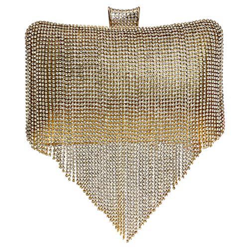 Soirée Bourse Pochette Mariage Clutch Chaîne Femme Gold À Pour Fête Maquillage Bandouliere Main Bal Sac Aq1xTap
