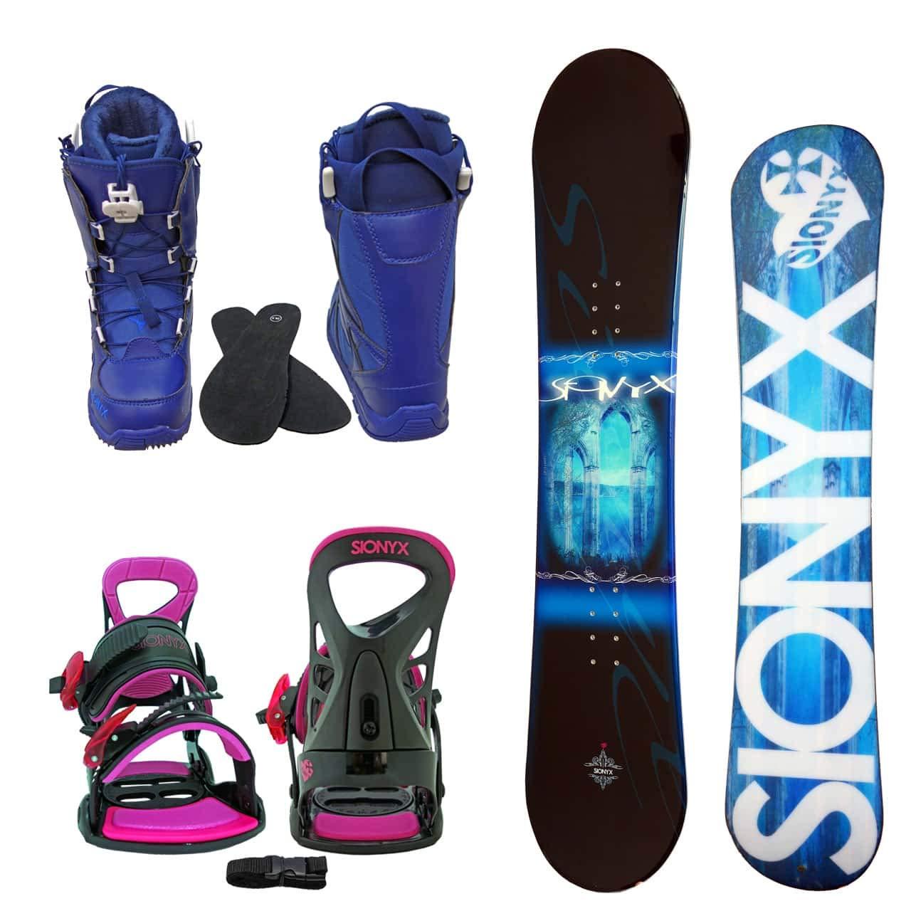 SIONYX レディース スノーボード3点セット スノボー+バインディング+クイックシューレースブーツ MONTE B07JKBTJ4G ボード 144+boots 25.0 ボード サックス+binding ピンク+boots ブルー ボード サックス+binding ピンク+boots ブルー ボード 144+boots 25.0