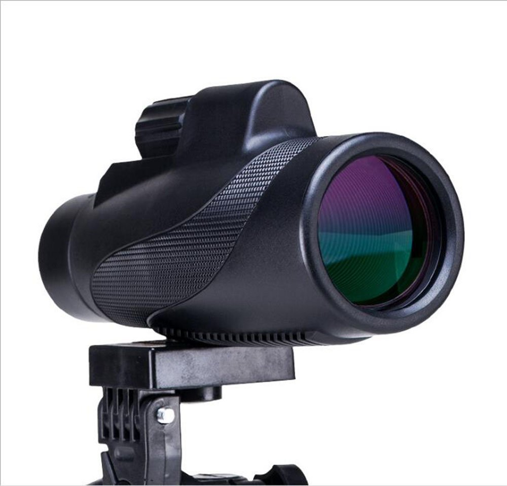 Telescopio monoculare, prisma ad alta potenza FMC BAK4 HD × 10 × 42 Impermeabile e antiappannamento con adattatore per smartphone rapido e monocolo Tripod portatile per Birdwatching, Viaggiare, All'aperto, All' aperto photoelectric