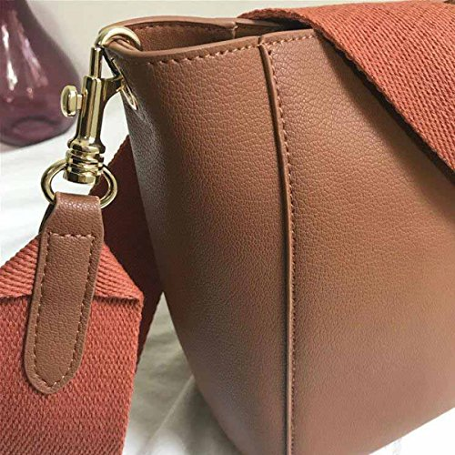 Pelle Moda red Borsetta Borse In Bag Caramel Shopping Borsa fwnwTqXU5