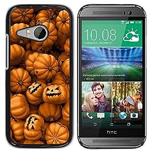 "Pulsar Snap-on Series Teléfono Carcasa Funda Case Caso para HTC ONE MINI 2 / M8 MINI , Naranja calabaza Evil vacaciones"""