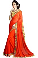 Aaradhya Fashion Women's Printed Saree With Blouse Piece