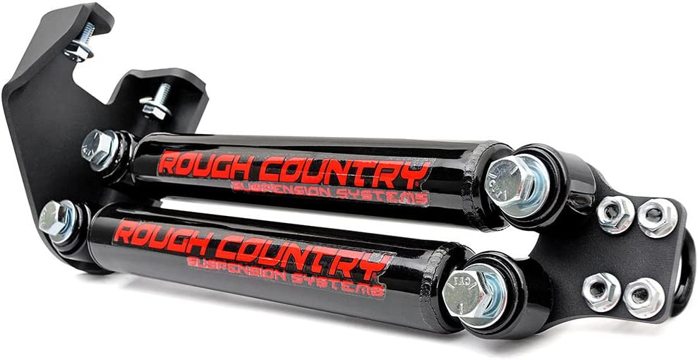 """Rough Country Dual Steering Stabilizer (fits) 1987-1995 Jeep Wrangler YJ 