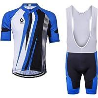 GWELL - Maillot de Ciclismo para Hombre (Transpirable