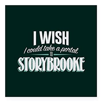 Cafepress ouat portal to storybrooke square sticker 3 x 3 square bumper sticker