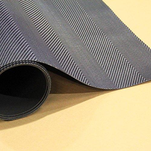 Woven Vinyl Floor Mat (Onyx, 6' 6