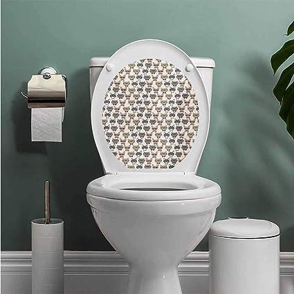 Pleasant Amazon Com Auraise Heybee Cat Toilet Seat Sticker Decal Evergreenethics Interior Chair Design Evergreenethicsorg