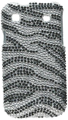 Asmyna SAMT959HPCDM010NP Premium Dazzling Diamante Diamond Case for Samsung Galaxy S 4G T959 - 1 Pack - Retail Packaging - Black Zebra