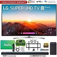 LG 75SK8070PUA 75 Class 4K HDR Smart LED AI Super UHD TV w/ThinQ (2018 Model) + LG SK10Y 5.1.2-Channel Hi-Res Audio Soundbar w/Dolby Atmos + Hulu $100 Gift Card + 1 Year Extended Warranty + More