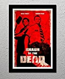 Shaun of the Dead - Nick Frost - Simon Pegg - Zombie - Comedy Horror Movie - Original Minimalist Art Poster Print