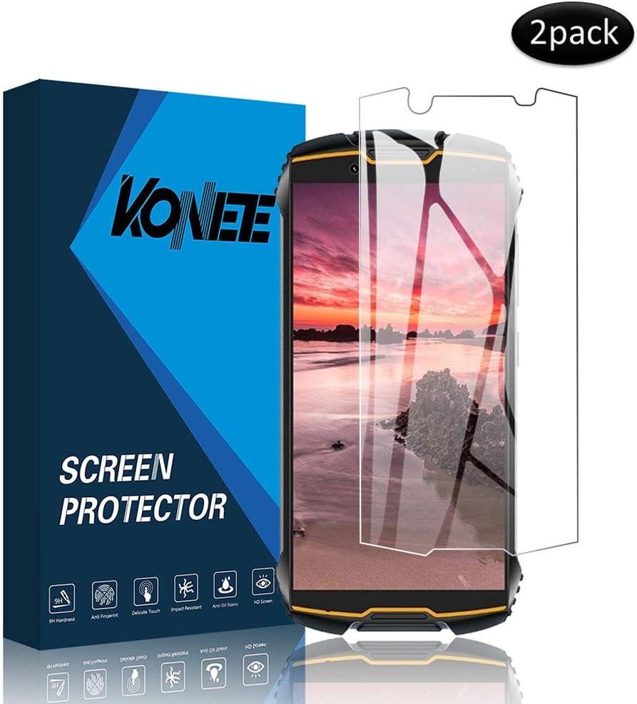 KONEE Protector de Pantalla Compatible con Cubot King Kong Mini, 【2 Piezas】 Ultra HD [ Dureza 9H, Alta Definición, Anti-Burbuja, Anti-Scratch ], Cristal Vidrio Templado para Cubot King Kong Mini