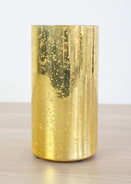 Amazon com: Afloral Mercury Glass Vase in Gold - 6