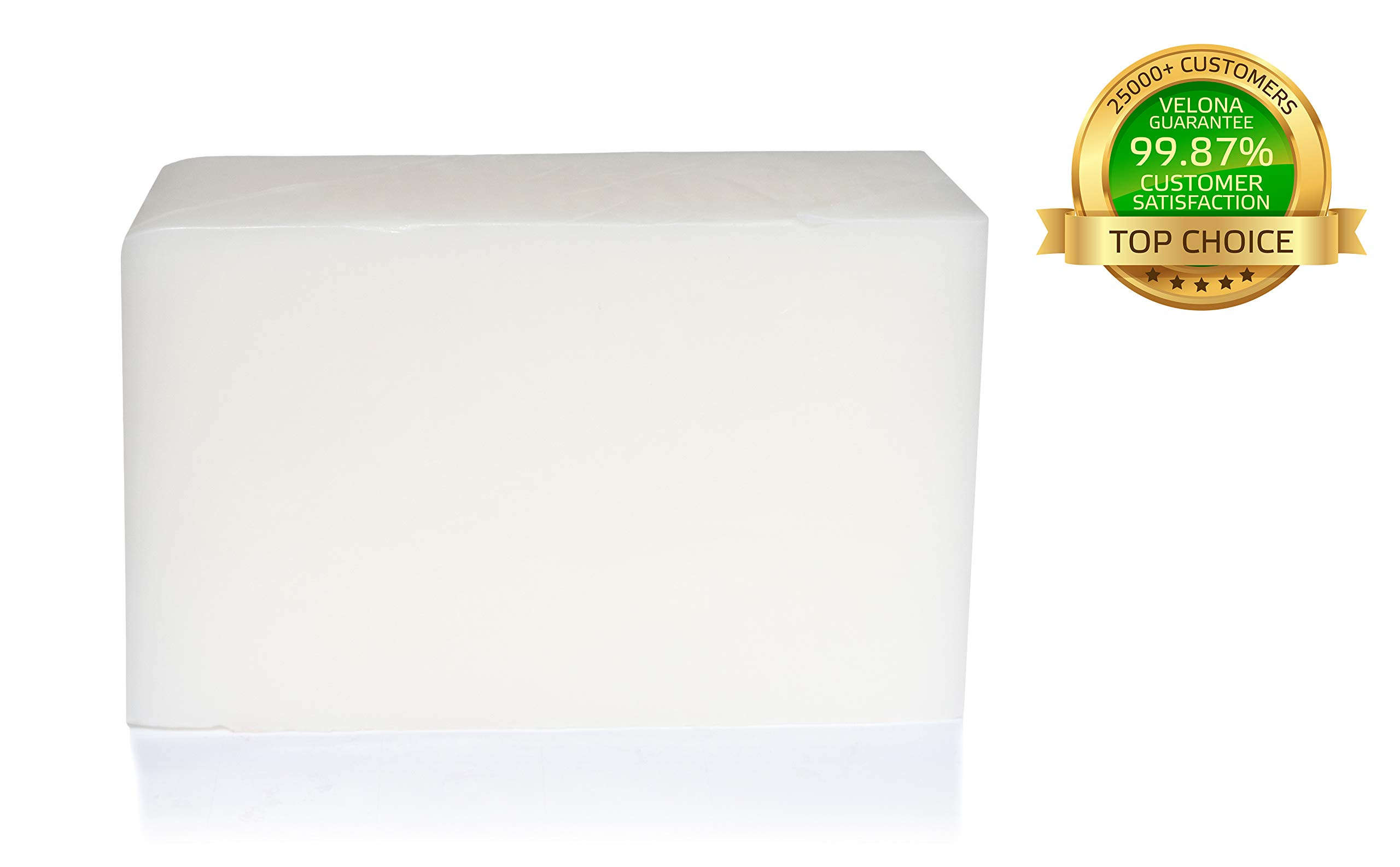 100% Organic Glycerin & SHEA Butter Soap Base by Velona   Melt & Pour All Natural Bar for The Best Result   Size: 10 lb