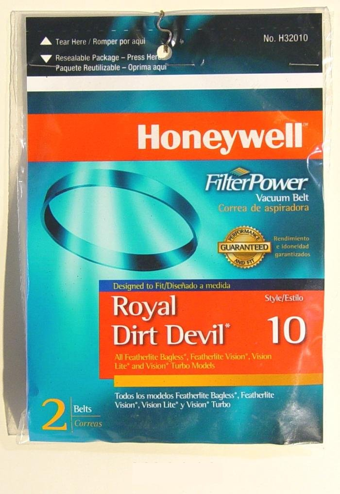 Amazon.com - Honeywell H32010 Dirt Devil Style 10 Replacement Belts - Household Vacuum Belts