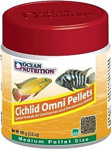 Ocean Nutrition Cichlid Omni Pellets 3.5-Ounces (100 Grams) Jar - Medium Pellet Size
