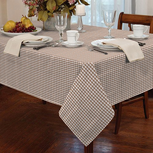 Gingham Check Oblong Tablecloth Dining Room or Kitchen Table Linen 54