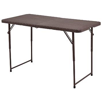 2b677f31 Mesa plegable Mesa plegable Mesa de jardín mesa de camping Buffet Mesa  fiesta Mesa terraza mesa plegable viaje höheverstellbar portátil: Amazon.es:  Deportes ...