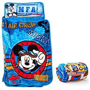 Disney's Mickey Mouse Quilted Toddler Nap Mat with Blanket and Pillow - Kids by Disney