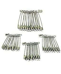 Glitteria Standard Safety Pins for Girls and Women Set of 42 (AMP-SB-11-SPINS)
