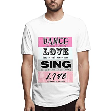 CINDYO Men Dance-Love-Live Fashion Combed Cotton tee T-Shirt Top ...